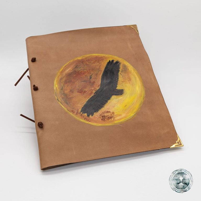 Agendă Breely Story lucrată manual din piele naturala, Wind. Handmade