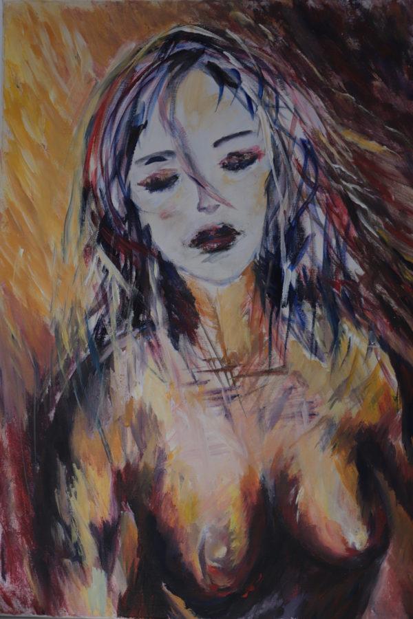 tablou Breely Story pictat manual Despletire handmade