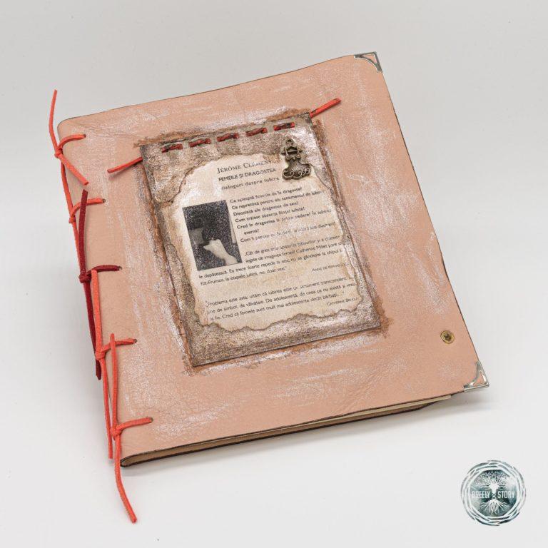 Agenda Breely Story din piele natural cu aplicații. Vintage. Handmade