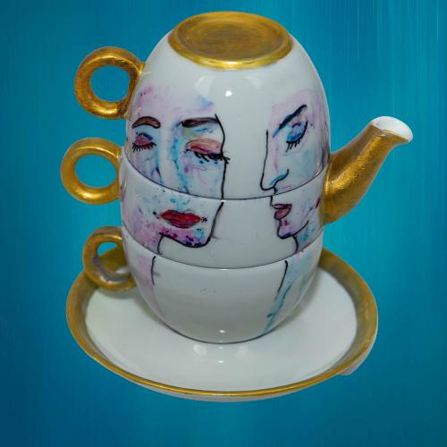 set ceai pictat manual