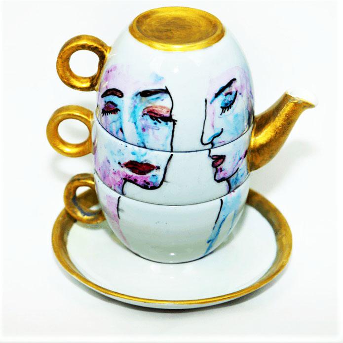 ceainic pictat manual