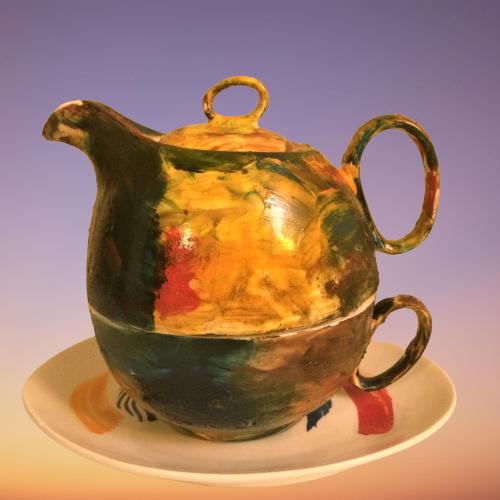 ceainic pictat
