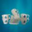 set cafea ceai pictat